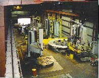 Heavy machining and fabricating with  large scale VTL and HBM